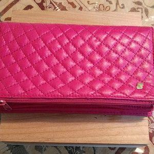 Vintage pink clutch purse